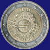 2 € Εσθονία 2012 - 10th Anniversary of Euro coins and banknotes