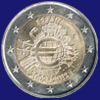 2 € Ισπανια 2012 - 10th Anniversary of Euro coins and banknotes