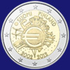 2 € Φιλανδια 2012 - 10th Anniversary of Euro coins and banknotes