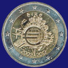 2 € Ιρλανδια 2012 - 10th Anniversary of Euro coins and banknotes
