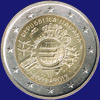 2 € Ιταλια 2012 - 10th Anniversary of Euro coins and banknotes