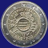 2 € Κύπρος 2012 - 10th Anniversary of Euro coins and banknotes