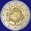 2 € Πορτογαλια 2012 - 10th Anniversary of Euro coins and banknotes