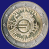 2 € Σλοβενια 2012 - 10th Anniversary of Euro coins and banknotes
