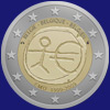 2 € Βελγιο 2009 - 10 years of Economic and Monetary Union (EMU)<br>and the birth of the euro