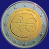 2 € Κύπρος 2009 - 10 years of Economic and Monetary Union (EMU)<br>and the birth of the euro