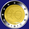 2 € Μάλτα 2009 - 10 years of Economic and Monetary Union (EMU)<br>and the birth of the euro