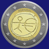 2 € Πορτογαλια 2009 - 10 years of Economic and Monetary Union (EMU)<br>and the birth of the euro